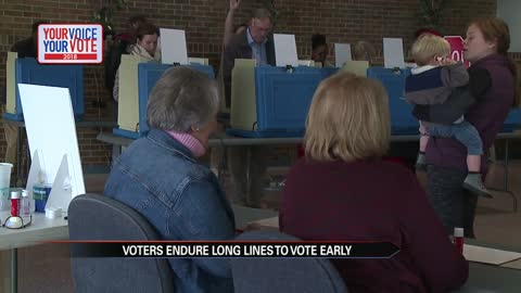 Voters endure long lines to vote early in Indiana