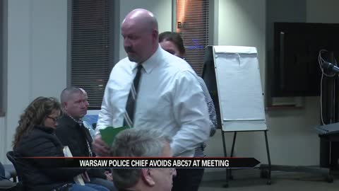 Warsaw Police Chief's request denied at city council; Avoids questions from ABC57