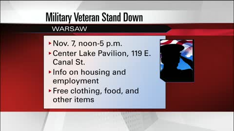 Warsaw to host event to help veterans