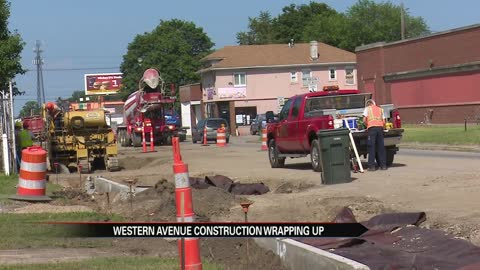 Western Avenue construction to be complete by October