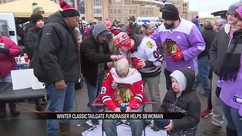 Winter Classic tailgate fundraiser helps South Bend woman battling cancer