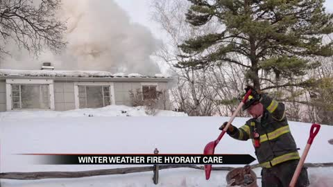Shoveling snow from around fire hydrants can save lives