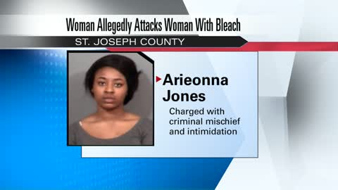 Woman behind bars after bleach attack