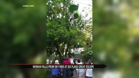 Woman falls from Sky Ride at Six Flags Great Escape