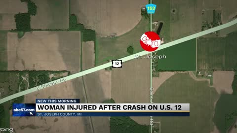 Woman injured after crash on US 12
