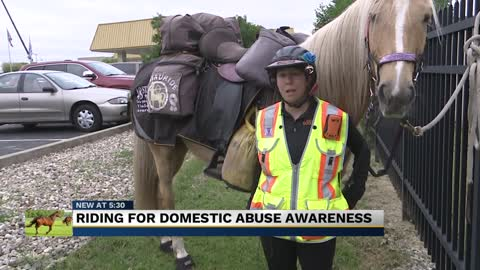 Woman rides horse across United States to bring awareness to...