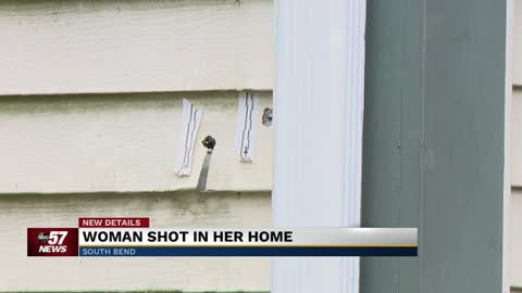 Woman shot in her home