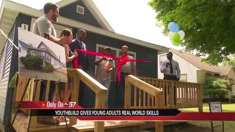 Benton Harbor YouthBuild cuts ribbon on new home
