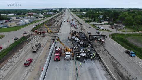 Drone video shows chain-reaction crash that killed 2 truck drivers in Racine County