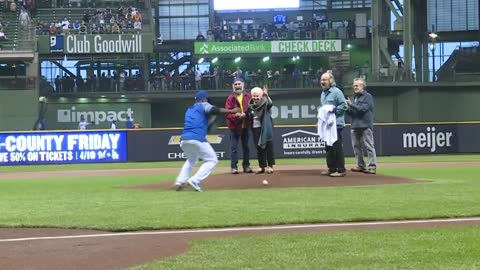 Meet the Brewers superfans: 100-year-old woman throws out first pitch, man attends 3,000th game