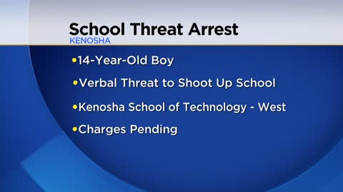 14-year-old arrested after making threats against Kenosha school