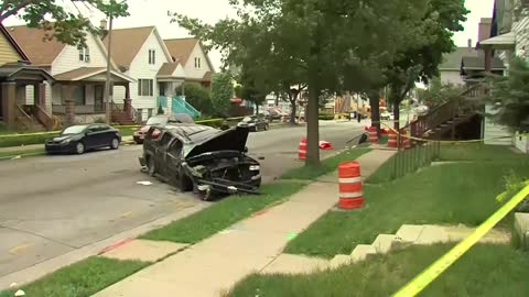 One hurt in rollover crash near 16th and Lincoln