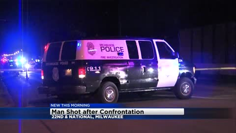 Confrontation escalates, man shot near 21st and National