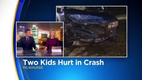 1 adult, 2 children injured in crash near 49th and Villard