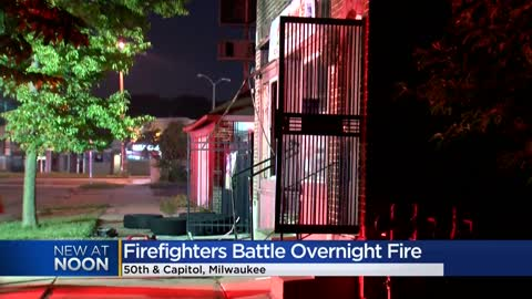 Firefighters battle fire at 50th and Capitol in Milwaukee