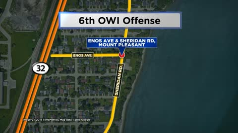 Man arrested for 6th OWI offense after crash in Mount Pleasant