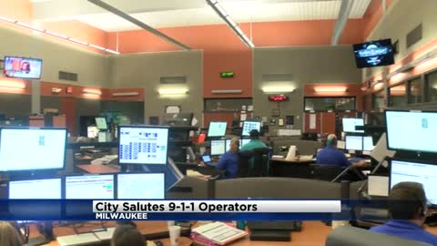 """Zero to 90 miles an hour in a matter of moments:"" Milwaukee salutes 911 operators during special ceremony"
