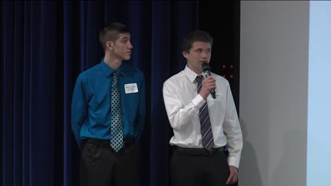 New Berlin High School students show off their designs with the perfect business pitch