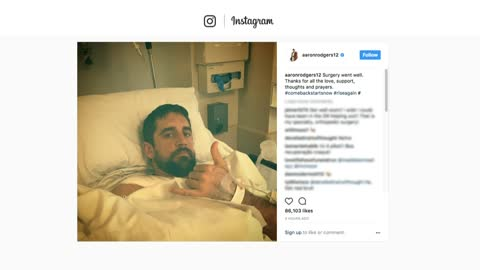 Aaron Rodgers thanks supporters after surgery