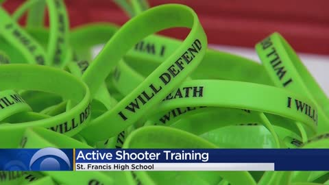 St. Francis High School staff participates in active shooter training