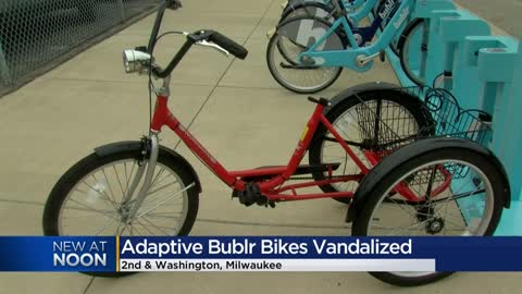 Adaptive Bublr bikes stolen, vandalized just weeks after being...