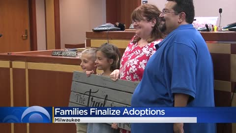 Milwaukee area families finalize adoptions with special visitor Ty Montgomery