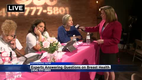 What happens after the breast cancer phone bank?