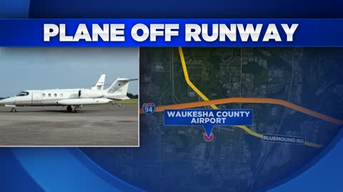 Airplane slides off runway at Crites Field, no one hurt