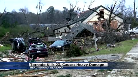 EF-4 tornado brought 170 mph winds and left a track almost a mile wide amid storms that killed 23 in Alabama