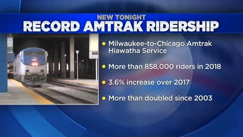 New ridership record set for Milwaukee-Chicago Amtrak service