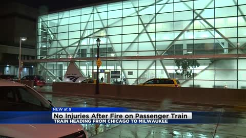 No injuries after battery box on Amtrak Hiawatha train traveling from Chicago to Milwaukee catches fire
