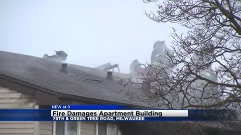Fire damages apartment near 76th and Green Tree Road
