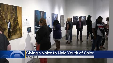 Milwaukee art exhibit gives a voice to young men of color