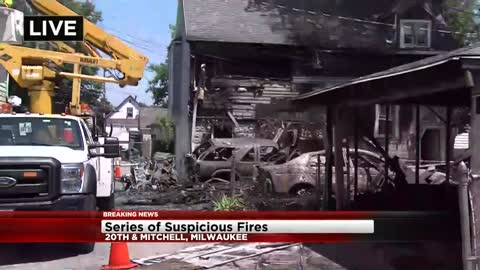Milwaukee Fire Department battles at least 10 fires on south side