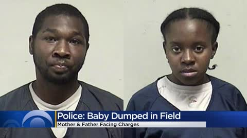 Baby's body left in field, mother and father facing charges