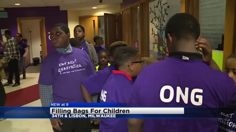 Milwaukee leaders, Motorola team up to fill bags for children impacted by trauma