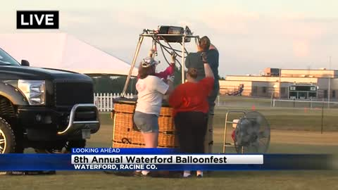 Up, up, and away is the direction you'll go this weekend at Waterford's Annual Balloonfest