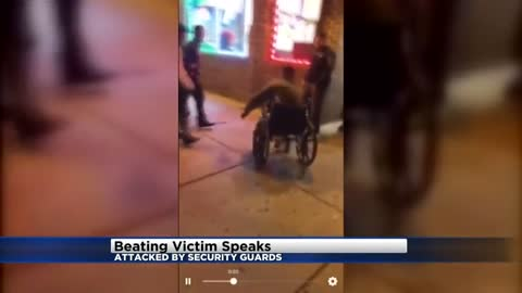 """It doesn't justify what they did:"" Man speaks out after being beaten by security guards outside restaurant"