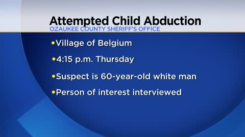 Attempted child abduction in Village of Belgium