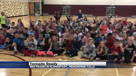 Tornado Ready at Ben Franklin Elementary in Menomonee Falls