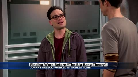 Wait, what? Pre-Big Bang, Johnny Galecki was learning how to become a plumber in Wisconsin