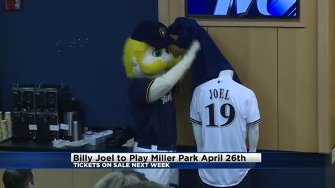 Billy Joel performing only Midwest concert at Miller Park on April 26