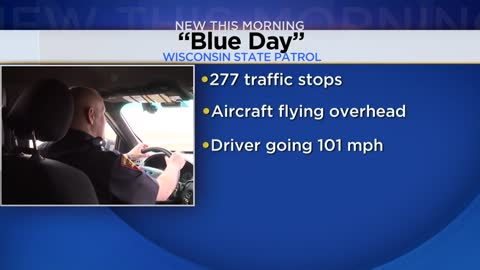 "State Patrol's ""Blue Day"" leads to 227 traffic stops"