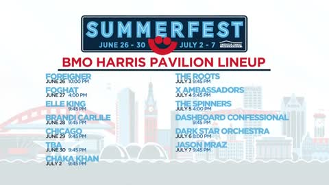 Summerfest's BMO Harris Pavilion schedule released