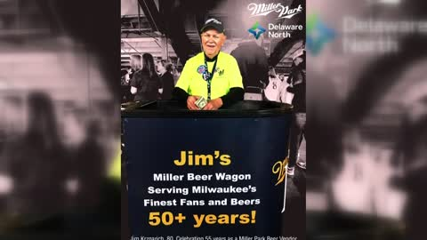Miller Park beer vendor marks 55th season on Opening Day