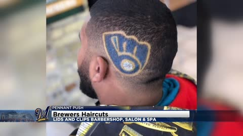 Lids and Clips Barbershop offering Brewers haircuts