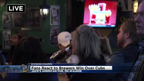 """There's not many moments like this:"" Fans react to Brewers win over Cubs"