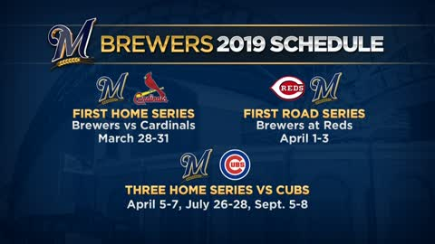Brewers announce 2019 season schedule