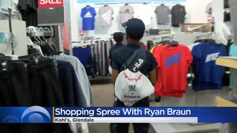 Brewers' Ryan Braun surprises kids at Glendale Kohl's, go...