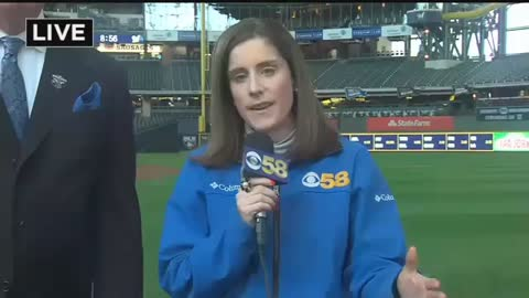 "Brewers Color Commentator Bill ""Rock"" Schroeder Talks Opening Day with CBS 58 News"